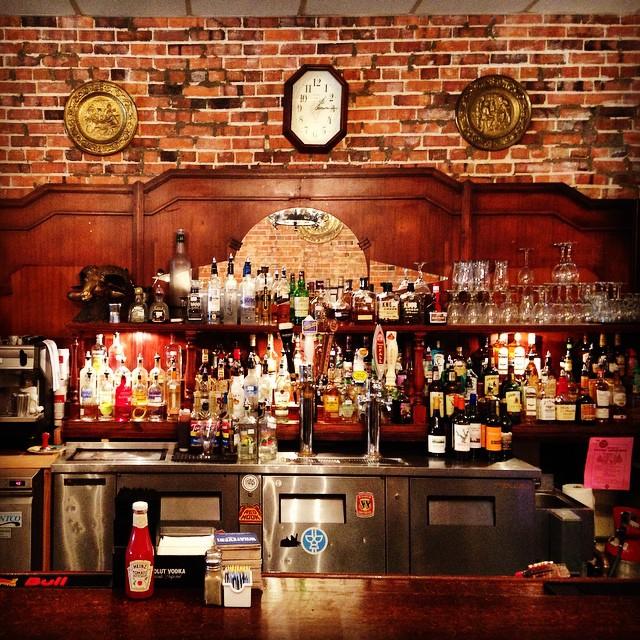 Bar at the Carolina Coffee Shop. Chapel Hill, NC