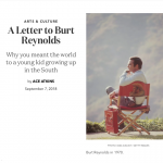 A Letter to Burt Reynolds